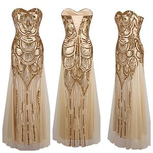 Great Gatsby Gold Dress